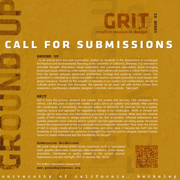 GROUND UP ISSUE 02 GRIT Call