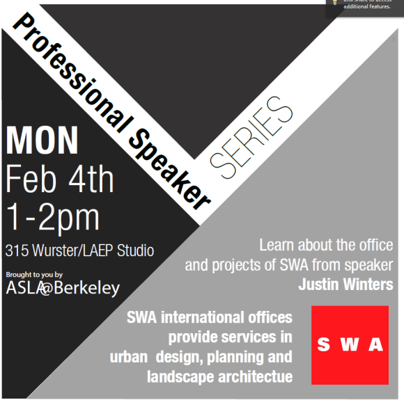 Feb 4 professional lunch series: SWA's Justin Winters